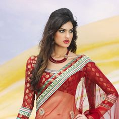 Maroon Net Lehenga Style Saree With Blouse
