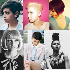 I hate my life.  Why can I not have cute short hair like the top 3, and middle 5.  -_-