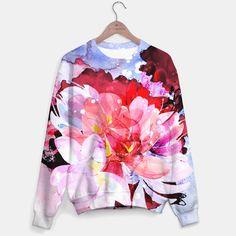 Beautiful watercolor flowers Sweater  by ESZAdesign™ Patterns & Art Online GiftShop