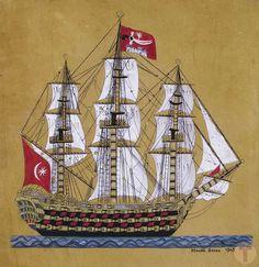 An Ottoman Galleon Ottoman Turks, Naval History, Concept Ships, Ottoman Cover, Hagia Sophia, Turkish Art, Ottoman Empire, Tall Ships, Islamic Art