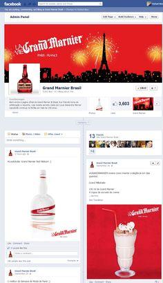 Criação e operação da página da Grand Marnier no Facebook.