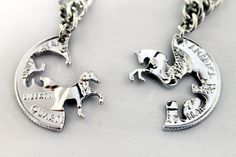 Interlocking Horses Coin Necklace $30 http://www.sixshootergiftshop.com/collections/other-styles-of-necklaces/products/interlocking-horses-coin-necklace