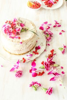 White Chocolate And Raspberry Cake With Orange Buttercream @FoodBlogs