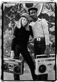Laura Levine - Tina Weymouth and Grandmaster Flash, New York City. 1981