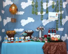 Wants and Wishes Party — Skylanders Birthday Party Dessert Table Idea