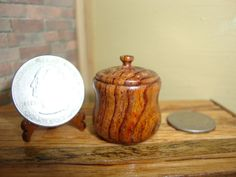 Dollhouse Miniature 1:12 Cookware & Tableware Canister Handcrafted OOAK #L5 #HandcraftedMiniaturesbyOppi