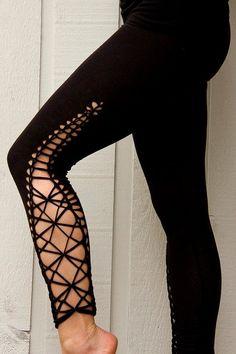 """Braided Leggings//Yoga//Festival//dance """"diamond"""" by Ahzalhea on Etsy www.c… - Leggings Tribal Leggins, Floral Leggings, Printed Leggings, Sports Leggings, Women's Leggings, Black Leggings, Cheap Leggings, Workout Leggings, Dance Outfits"""