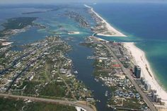 High shot of islands in Orange Beach and Perdido Key.  Click the link to visit our website and view current Orange Beach, AL homes for sale.  http://www.condoinvestment.com/orange-beach-al-subdivisions.php