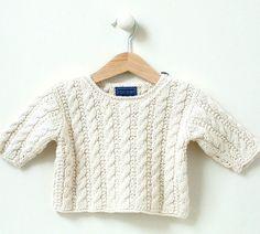 KNITTING PATTERN  baby sweater  'mini by rocketclothinglondon