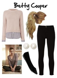Designer Clothes, Shoes & Bags for Women Tv Show Outfits, Sporty Outfits, Girly Outfits, Cute Outfits, Betty Cooper Style, Betty Cooper Outfits, Riverdale Halloween Costumes, Halloween Costumes For Teens Girls, Teen Girl Fashion