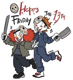 Happy FRIDAY THE 13TH! October friday the 13th.. wow I had to celebrate this