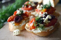 Easy & Elegant -- Greek Crostini with Whipped Feta