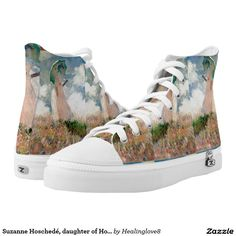 Suzanne Hoschedé, daughter of Hoschedé,second wife Printed Shoes