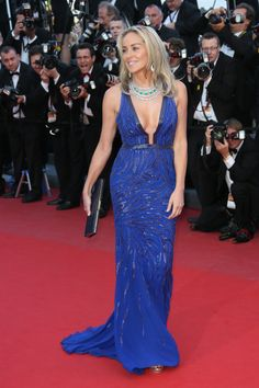 Fashion CV : Sharon Stone à Cannes. #MbyCristina #Cannes #teva