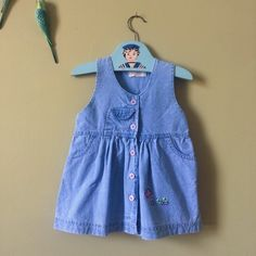 A personal favourite from my Etsy shop https://www.etsy.com/uk/listing/511280464/girls-vintage-dress-blue-denim-summer