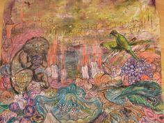 Original-Seide-Gemälde. von aminamarei auf Etsy