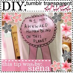 DIY tumblr transparent shirts | | | by Siena