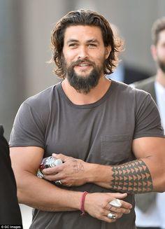 Bearded: Jason is sporting a good deal of facial hair...