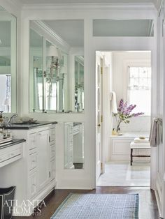 House Tour:  Forever Home in Buckhead mirrored walls in paneled trim...love...hearts desire