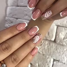 Deep french nails Side Braids in 2020 Pastel Pink Nails, Pink Nail Colors, Pink Nail Art, Purple Nails, Red Nails, Burgundy Nails, French Nails, French Manicure Nails, Oval Nails
