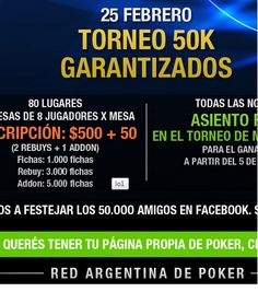 Clasificá al Torneo 50 K en Pokerlogia