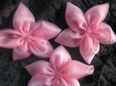 5Petal Light PInk Organza Flowers by CraniumDecorAndMore on Etsy, $2.00