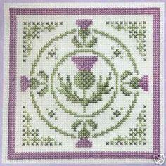 Textile Heritage Circle of Thistles Scottish Cross Stitch KIT