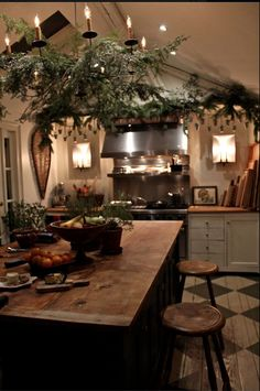 The Christmas kitchen at Nora Murphy Country House.