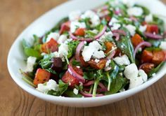 Roast Veggie Salad A delicious salad which will add a splash of colour to your dinner table. Ingredients sweet potato, pumpkin, beetroot, red onion, garlic, lemon, spinach, parsley