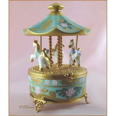 Limoges Porcelain Trinket Box...reminds me of the carousel at Silver Beach!
