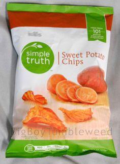 Simple-Truth-Sweet-Potato-Chips-ripple-cut-snack-6-oz-bag-lunch-food-salt-crunch #BigBoyTumbleweed