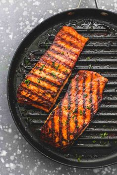This Cajun Honey Butter Grilled Salmon is a spicy and sweet seafood option that's ready in 15 minutes. The salmon is moist and meaty, cooks up nice and flaky, and then is topped with a melt-in-your-mo Cajun Salmon, Honey Salmon, Spicy Salmon, Butter Salmon, Baked Salmon, How To Grill Salmon, Pesto Salmon, Grilling Recipes, Fish Recipes