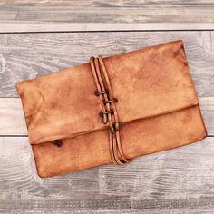 Genuine Leather Clutch/ iPad Bag / Envelope Bag/ Women Handbag