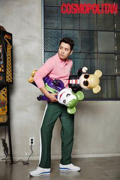 Joo Sang Wook channels his inner child in fun shoot with 'Cosmopolitan'… Joo Joo, Joo Sang Wook, Saranghae, Cosmopolitan Magazine, Korean Actors, Korean Actresses, Korean Entertainment, Korean Star, Handsome Actors