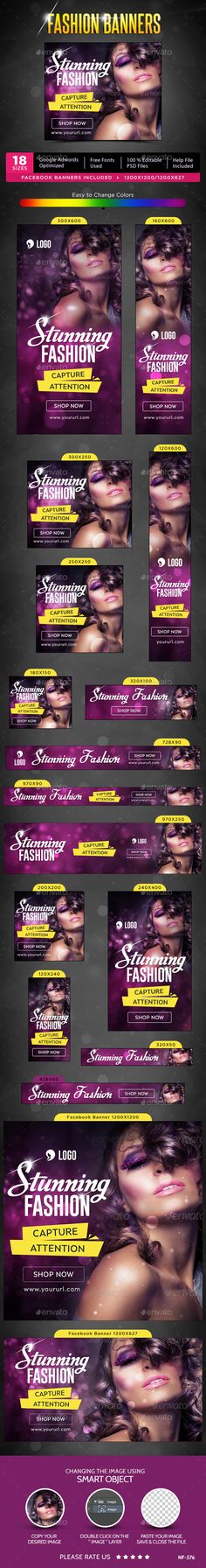 Fashion Banners Template #design #ads #web Download: http://graphicriver.net/item/fashion-banners/12482777?ref=ksioks