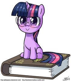 Filly Twilight with Glasses by *johnjoseco