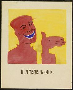 ROSTA WINDOWS, Vladimir Mayakovsky But now it, September 1921 series of 12 works, each ca. 53 x 42,5 cm, gouache on paper #03760-11
