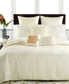 6aa720191949c Hotel Collection Verve Bedding Collection - Bedding Collections - Bed  amp   Bath - Macy s Ivory