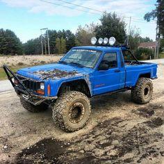 Jeep MJ Commanche Baja Lights Push Bar Lifted Mud Truck Love It!