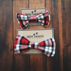 """A hand-stitched bow tie for your best furry friend. An elastic loop on the back makes it easy to slip onto your pet's collar and instantly add a little dapper. The Small size (approx. 3"""" across) is be"""