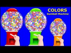 Colors for Children to Learn with Gumball Machine - Learning Colours for Kids - Kids Learning Videos - YouTube