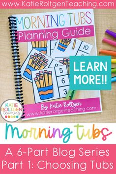 Welcome to the first part of my Go-To Guide to Morning Tubs series! Whether you're new to using morning tubs or used them in the past and need to revamp or reorganize what you've been doing, start here! Grab your FREE Guide to Morning Tubs as well! This six-part blog series will take you step-by-step through the process of planning and implementing morning tubs in your kindergarten classroom. Part one is all about choosing tubs in a simple, effective, and budget-friendly way!