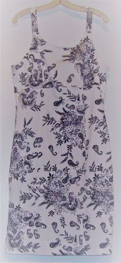BEAUTIFUL JONATHAN MARTIN Black & White Paisley Cotton/Spandex Dress Size 14 #JonathanMartin #BeachDress #Clubwear