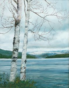 Lake Placid Birches by Karen Woodin