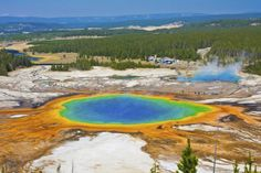 Grand Prismatic Hot Spring, Wyoming, VS