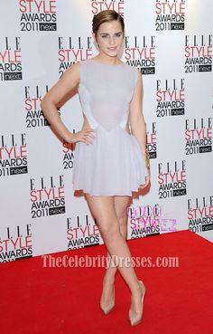 Emma Watson Mini Party Dress ELLE Style Awards 2011 Red Carpet