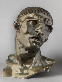 Adolfo Wildt: The Last Symbolist at Musée de l'Orangerie Sculptures, Lion Sculpture, Sculpture Portrait, Italian Sculptors, Male Figure, Les Oeuvres, Photo Galleries, Drawings, Drawing Faces
