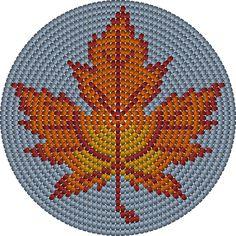 Wayuu Mochila bottom maple leaf