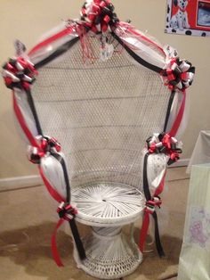 Baby Shower Chair With Decorations