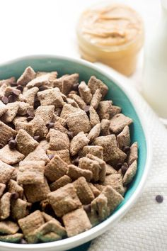 Protein Puppy Chow - Add a little health boost to the classic snack that is quick, easy and great for kids! | Foodfaithfitness.com | #puppychow #recipe #healthysnack